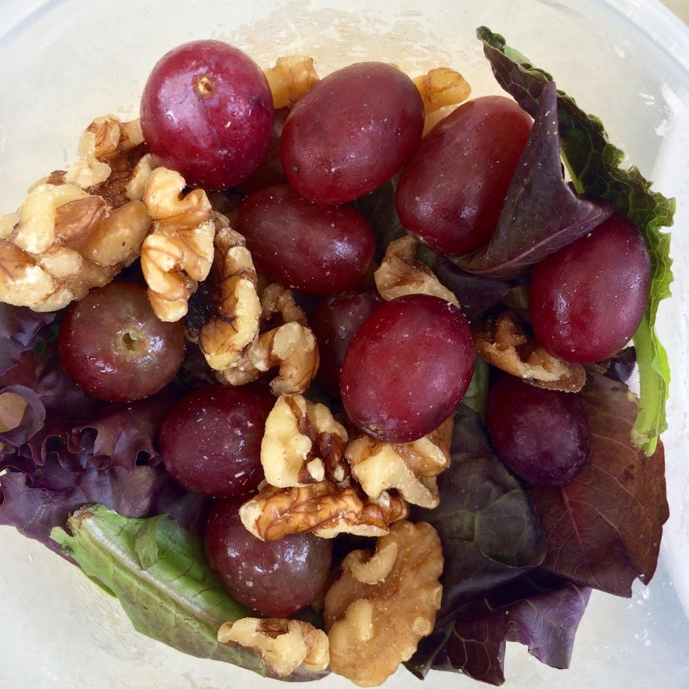 Salad Walnuts Grapes